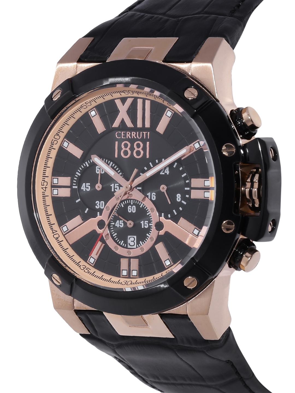 12155889174 Buy Cerruti 1881 Men Black Chronograph Watch CRA145SRB02BK - Watches ...