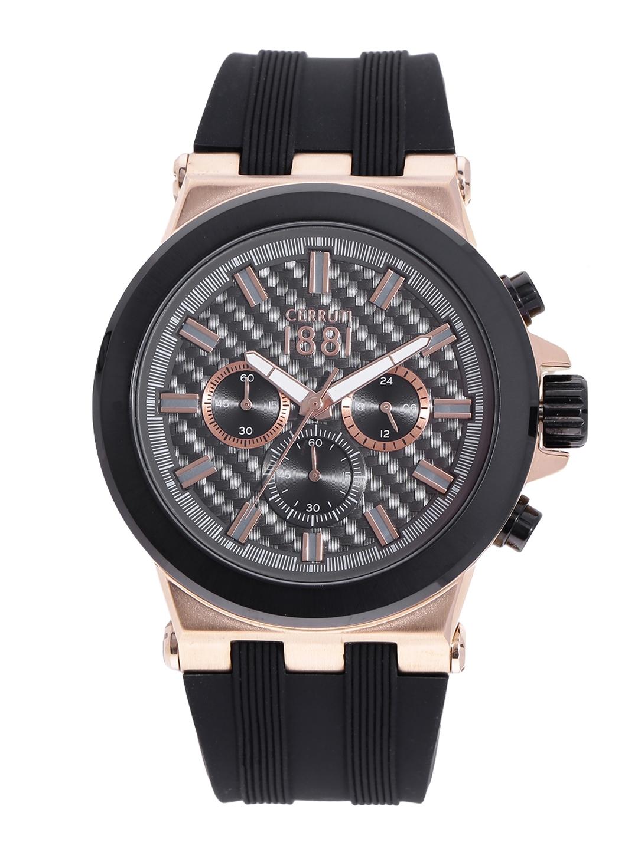 a2bc03e509 Buy Cerruti 1881 Men Gunmetal Toned Chronograph Watch CRA174SRB61BK ...