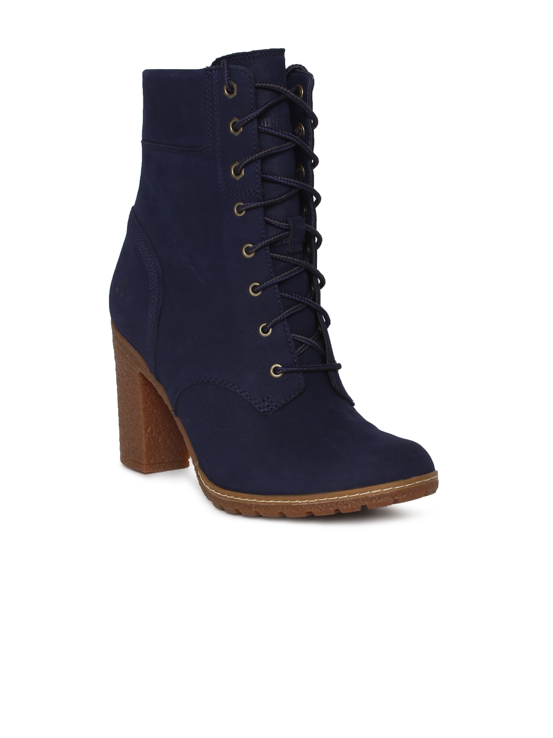 3783eb9f2d07 Buy Timberland Women Navy Blue Solid GLANCY Heeled Boots - Heels for ...