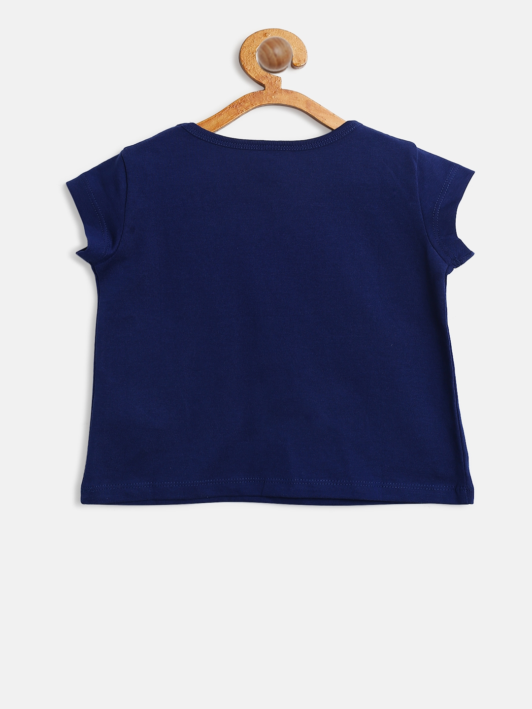 e619e40584a675 Buy United Colors Of Benetton Girls Navy Blue Printed Round Neck T ...