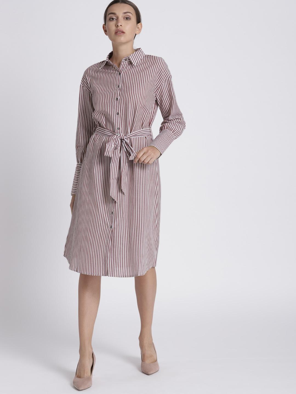 34861bac457 Buy Chemistry Women Red   White Striped Shirt Dress - Dresses for ...
