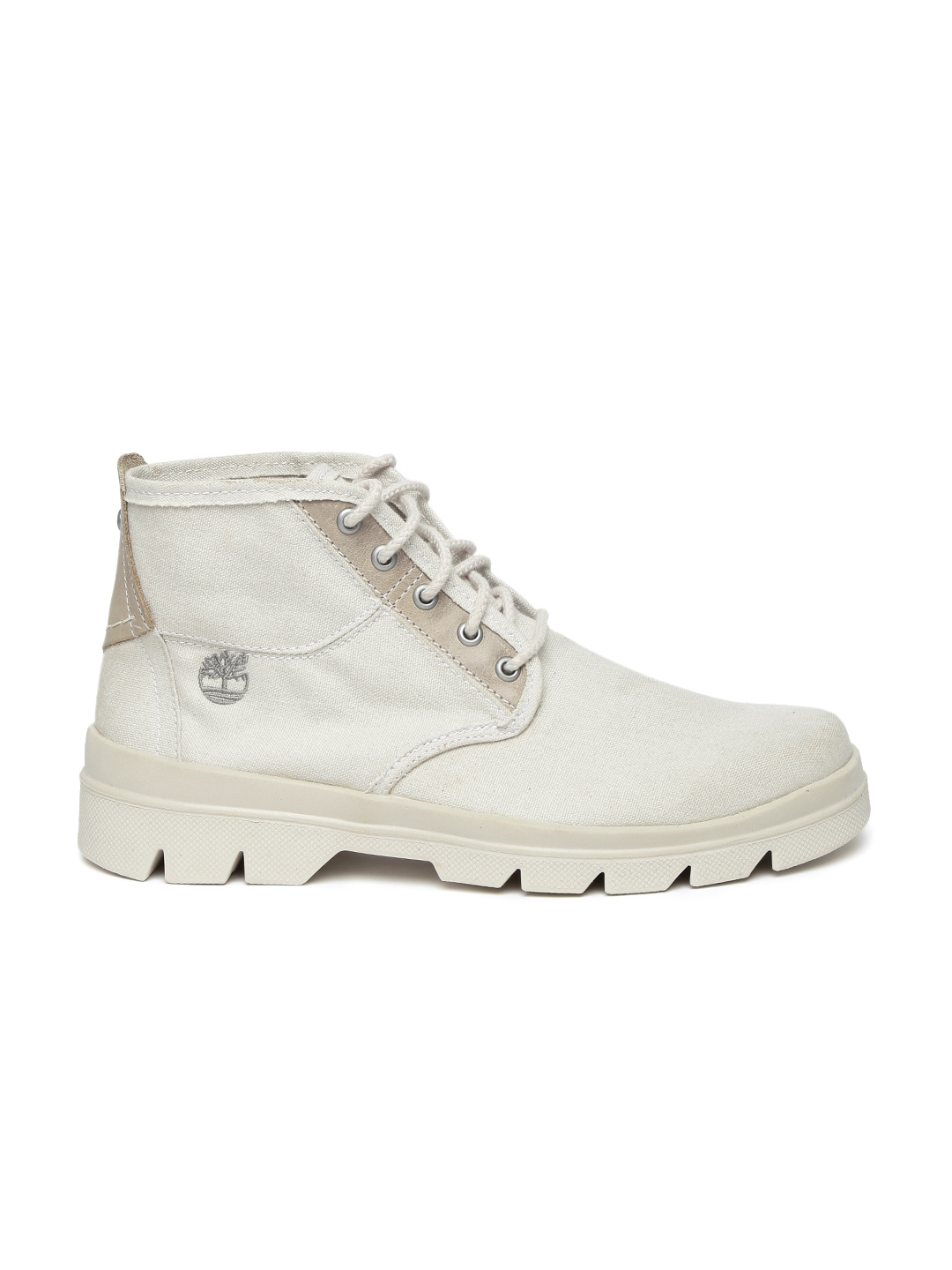 d7d3c98a2 Buy Timberland Men Off White Solid Leather Mid Top CITYBLAZER FL ...