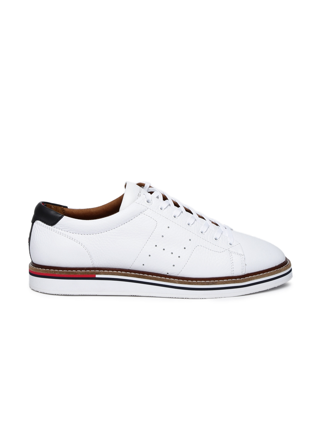 5e6f8de1f Buy Tommy Hilfiger Men White Sneakers - Casual Shoes for Men 2477425 ...