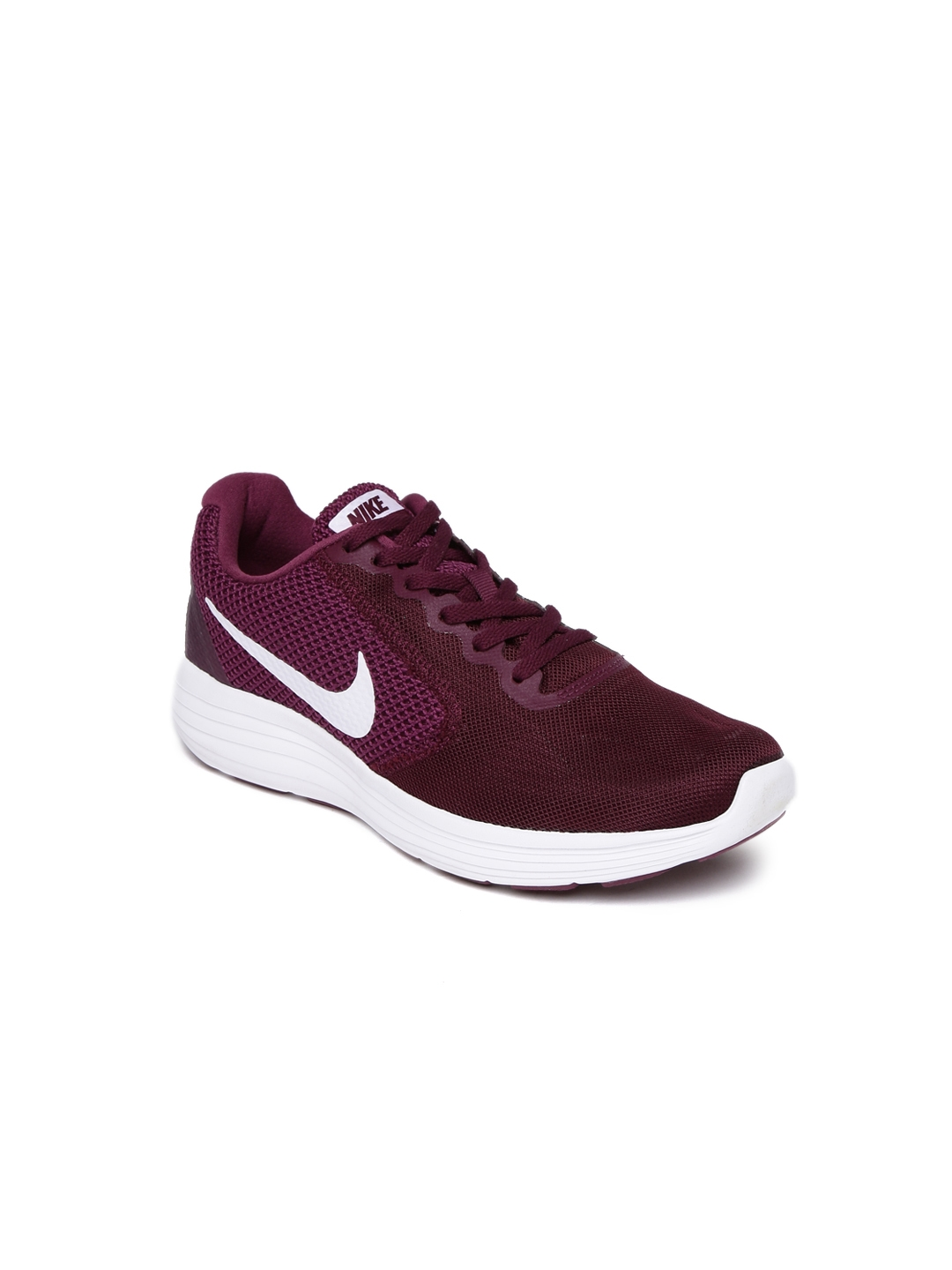 7f4e5a1197b Buy Nike Women Burgundy Revolution 3 Running Shoes - Sports Shoes ...