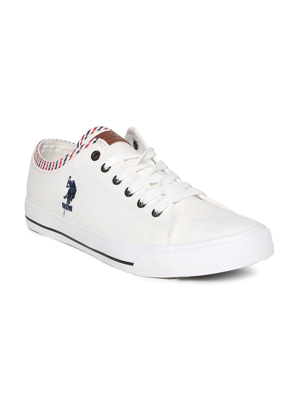1497091fbf6 Buy U.S. Polo Assn. Men White Logan Sneakers - Casual Shoes for Men ...
