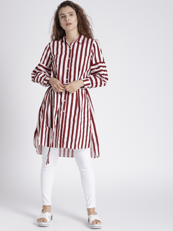 3cb05721e Buy Splash Women Red & White Striped Shirt Style Top - Shirts for ...