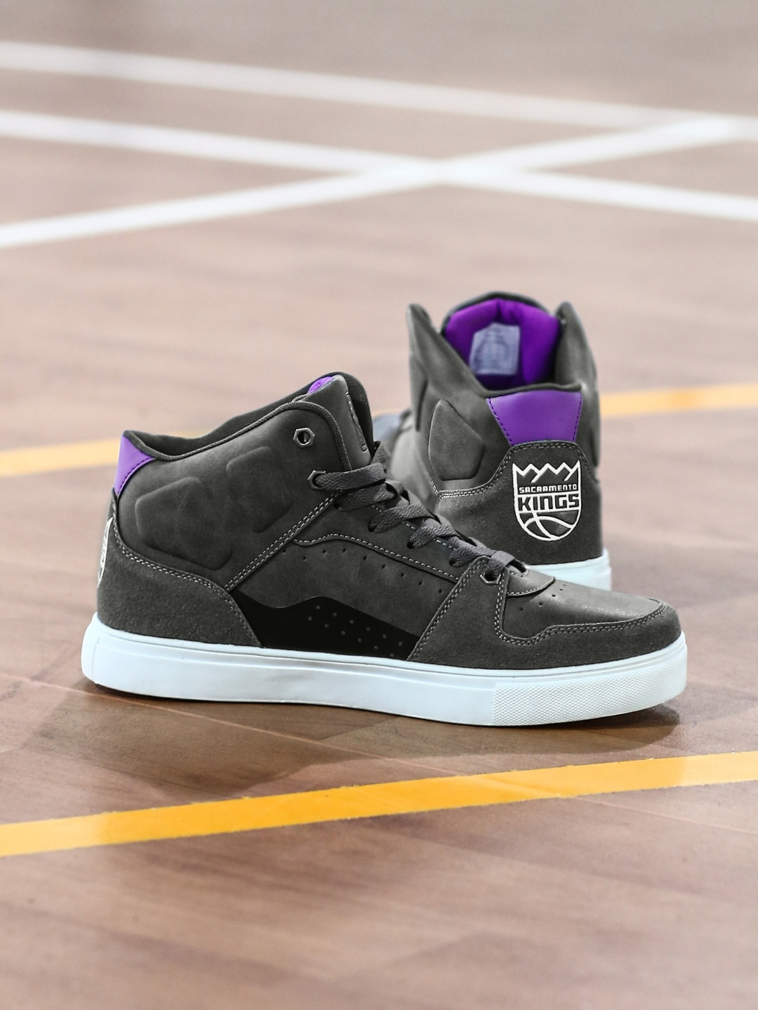 d57fb4d48867 Buy NBA Sacramento Kings Men Grey High Top Sneakers - Casual Shoes ...