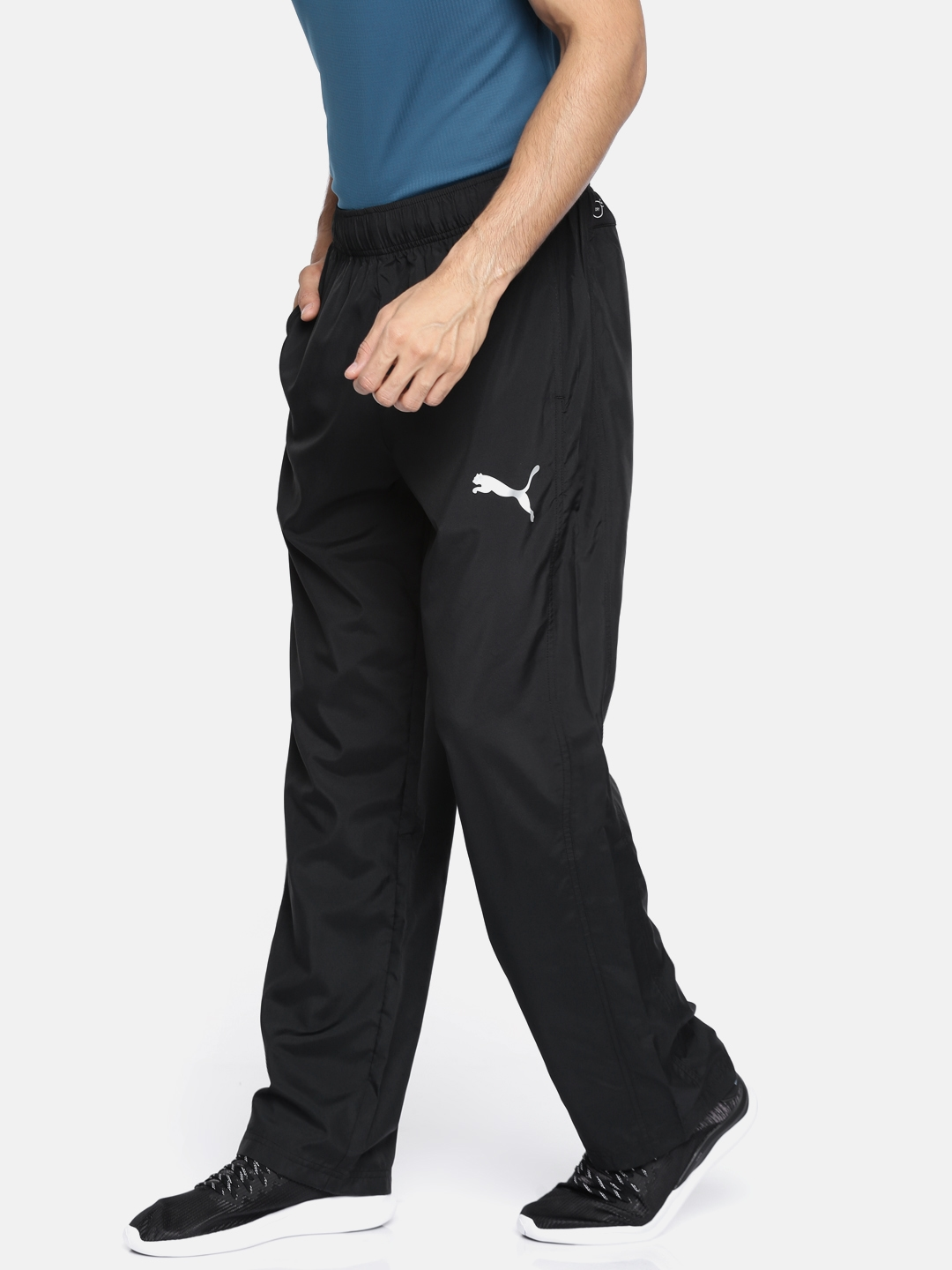 ba9846c10b7a Buy Puma Men Black Essential Woven Straight Fit Track Pants - Track ...