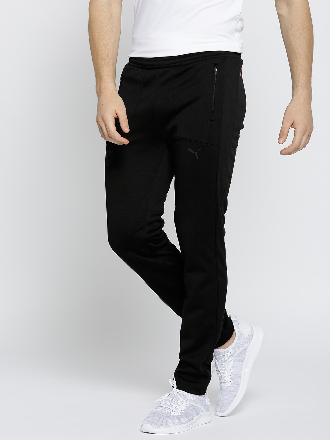 2d26985ce632 Buy Puma Men Black Ferrari T7 Solid Track Pants - Track Pants for ...