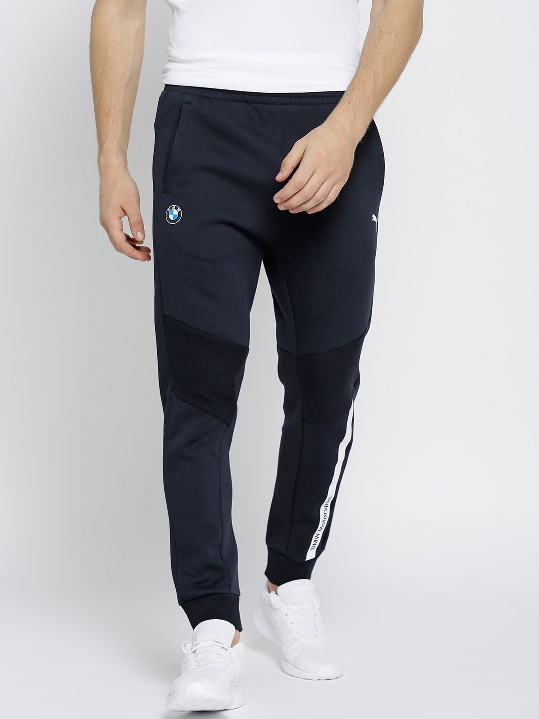 edc36fbe8231 Buy Puma Men Navy BMW Motor Sport Solid Joggers - Track Pants for ...