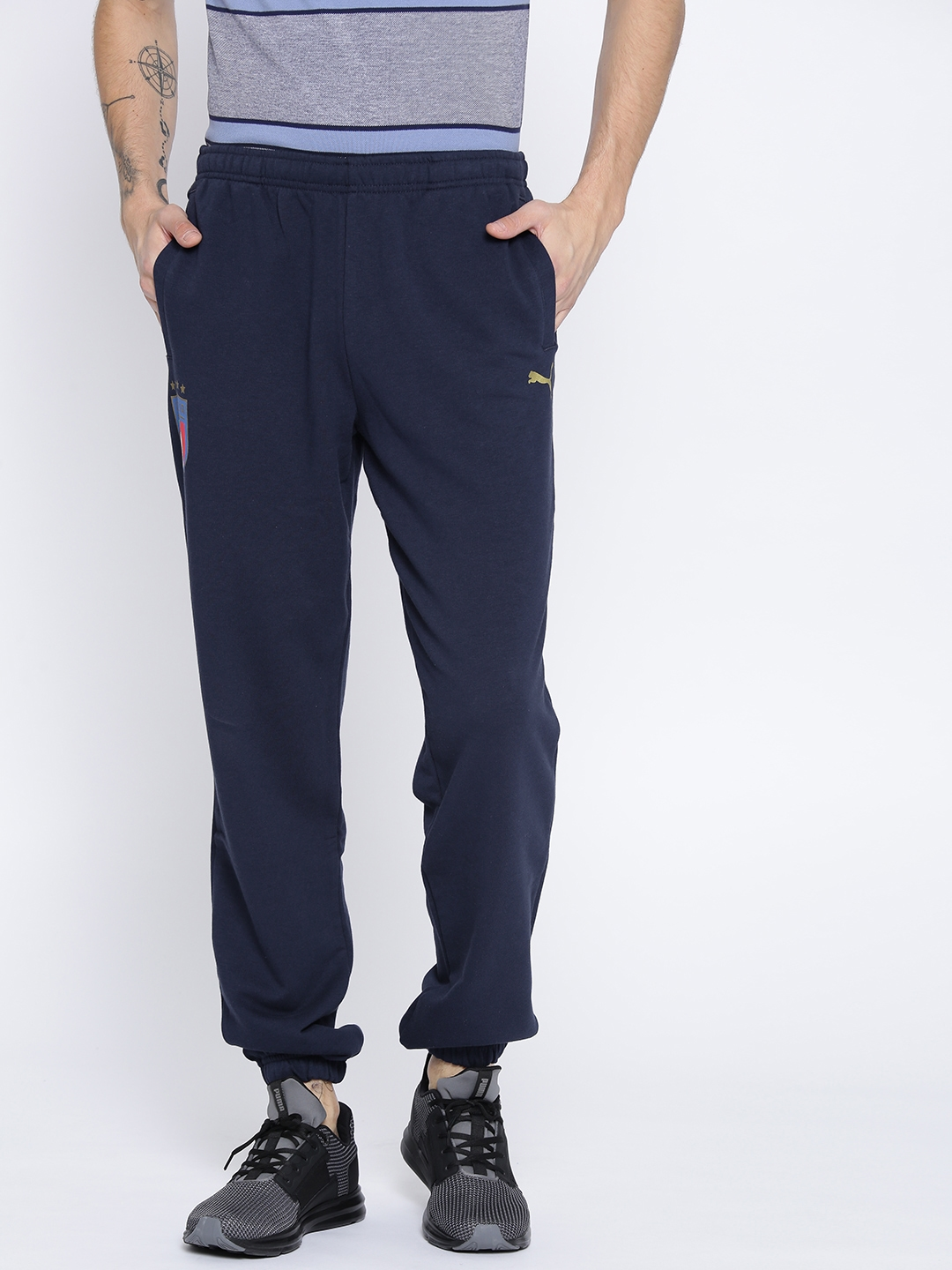 14d2d7037a7b Buy Puma Men Navy FIGC Italia Football Joggers - Track Pants for Men ...