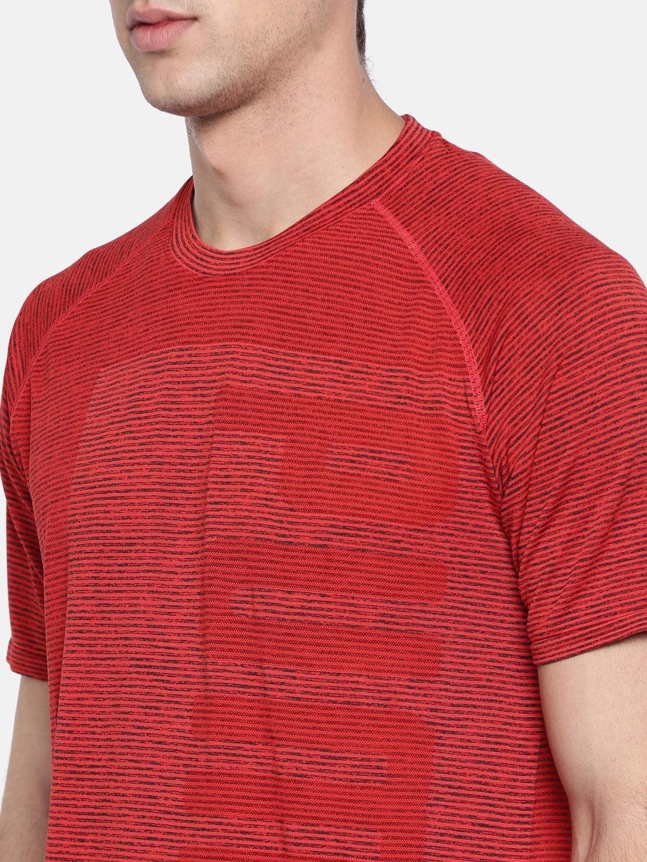 cc14961c0ff Buy Puma Men Red Striped EvoKnit T Shirt - Tshirts for Men 2486564 ...