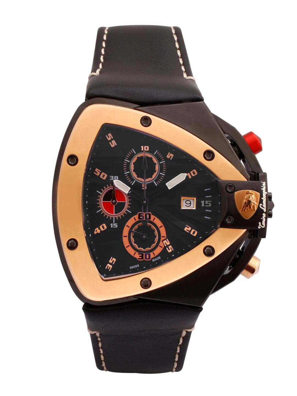 Tonino Lamborghini Men Black Analogue Watch TL SPYDER 9812