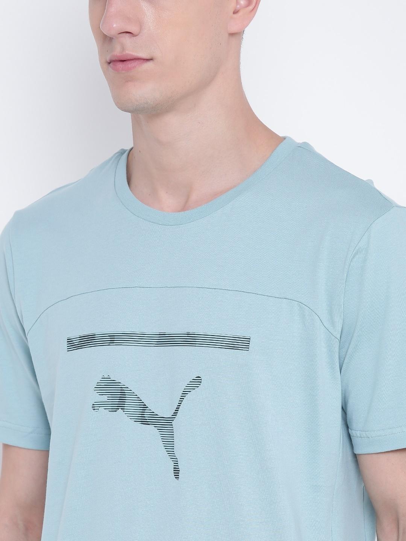 131eb7bb540c Buy Puma Men Blue Printed Round Neck Pace Graphic T Shirt - Tshirts ...