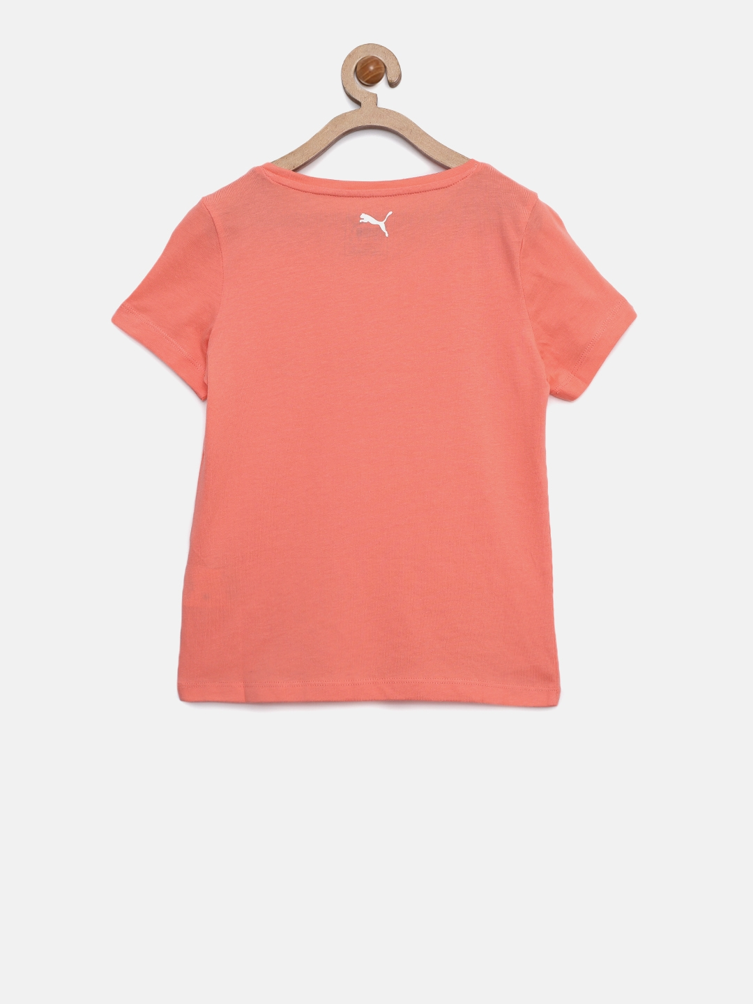 ae8a2f39ab81 Buy Puma Girls Peach Coloured Style Graphic Printed Round Neck T ...