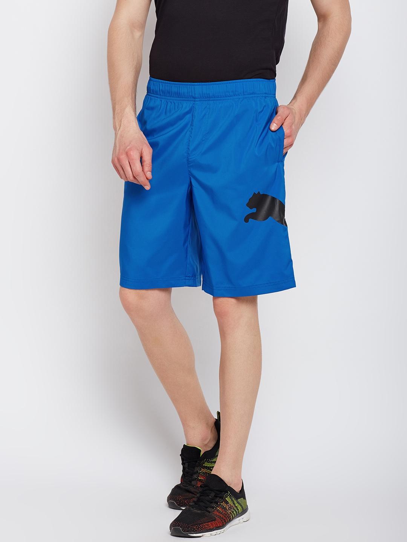 c4089845216c Buy Puma Men Blue Solid Regular Fit Regular Shorts - Shorts for Men ...
