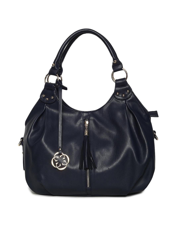 Buy CERIZ Navy Blue Solid Hobo Bag - Handbags for Women 2489925  af71b8d73475b