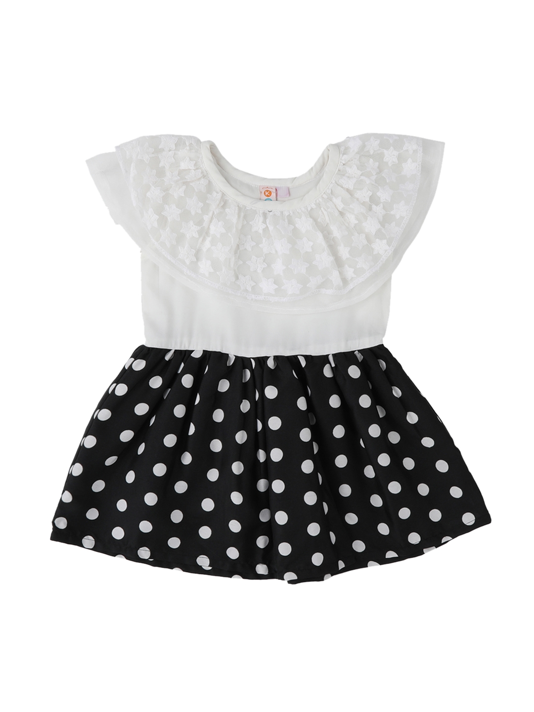 b1e1d8400f Buy Kids On Board Girls White Printed Fit And Flare Dress - Dresses ...