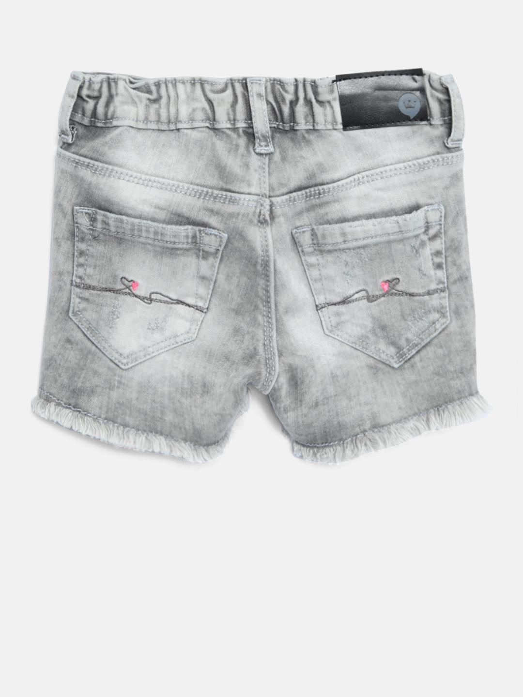 b39ca2f0c Buy VITAMINS Girls Grey Washed Distressed Denim Shorts - Shorts for ...