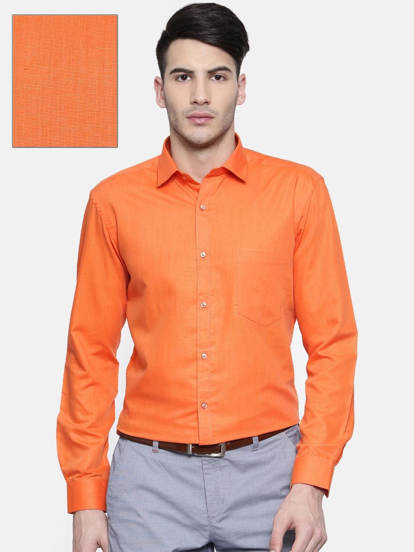 333e9a153586 Buy RG DESIGNERS Men Orange Slim Fit Solid Formal Shirt - Shirts for ...