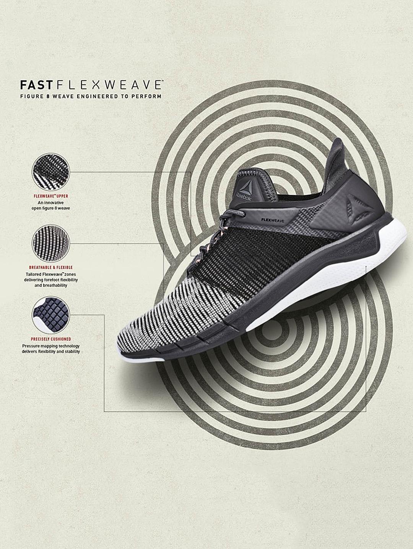 c72ee84314b4 Buy Reebok Women Black FSTR Flexweave Woven Design Running Shoes ...