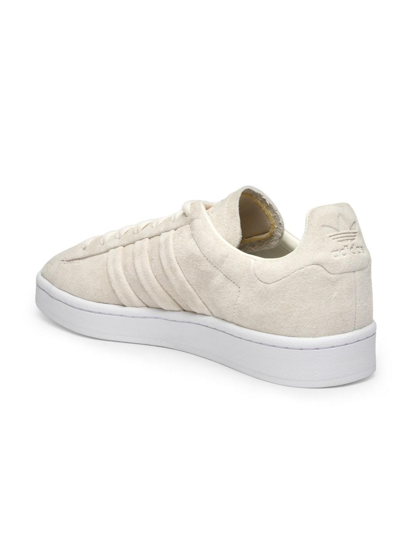 super popular e2485 d91ea ADIDAS Originals Men Beige Campus Stitch  Turn Suede Sneakers