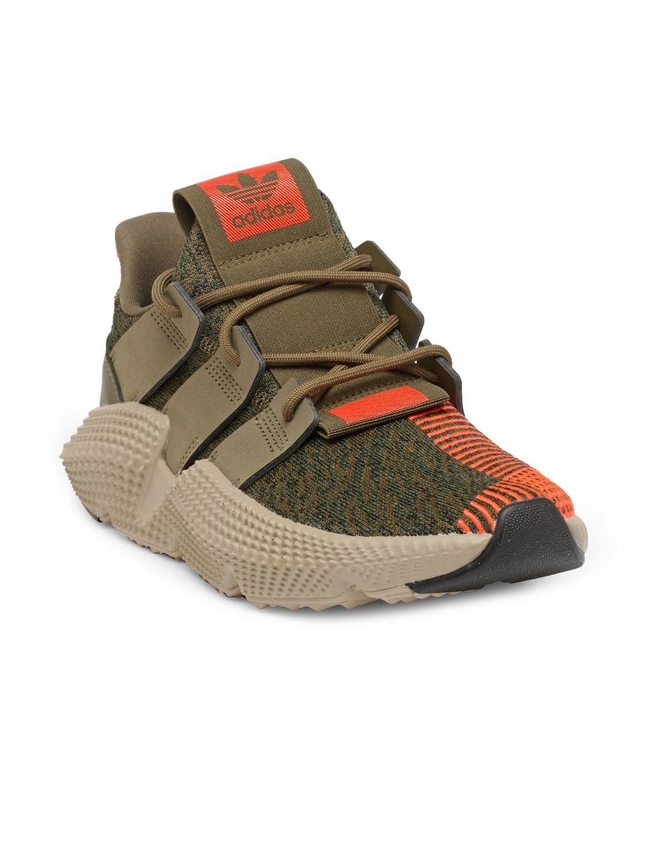 ADIDAS Originals Men Olive Green & Coral Orange Prophere Patterned Sneakers