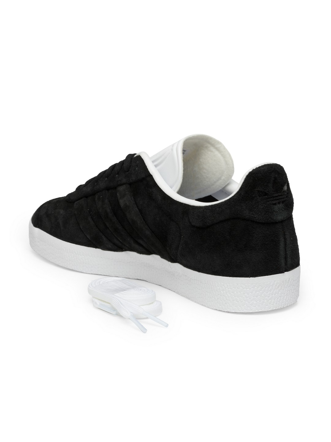 new product ad0e9 2b4fb ADIDAS Originals Men Black Gazelle Stitch   Turn Suede Sneakers
