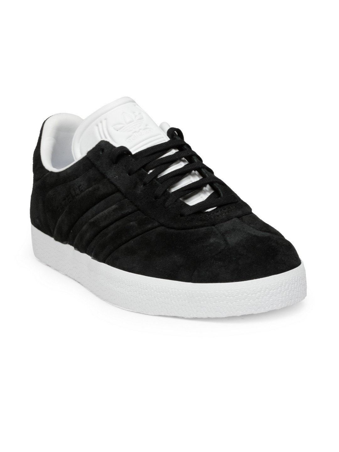 46da1015e31 Buy ADIDAS Originals Men Black Gazelle Stitch & Turn Suede Sneakers ...