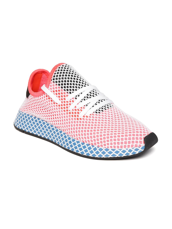 buy online 15e6f 720d1 ADIDAS Originals Men Coral Pink   Off-White Deerupt Runner Patterned  Sneakers