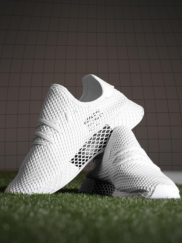sale retailer 51295 87423 ADIDAS Originals Men Off-White Deerupt Runner Patterned Sneakers