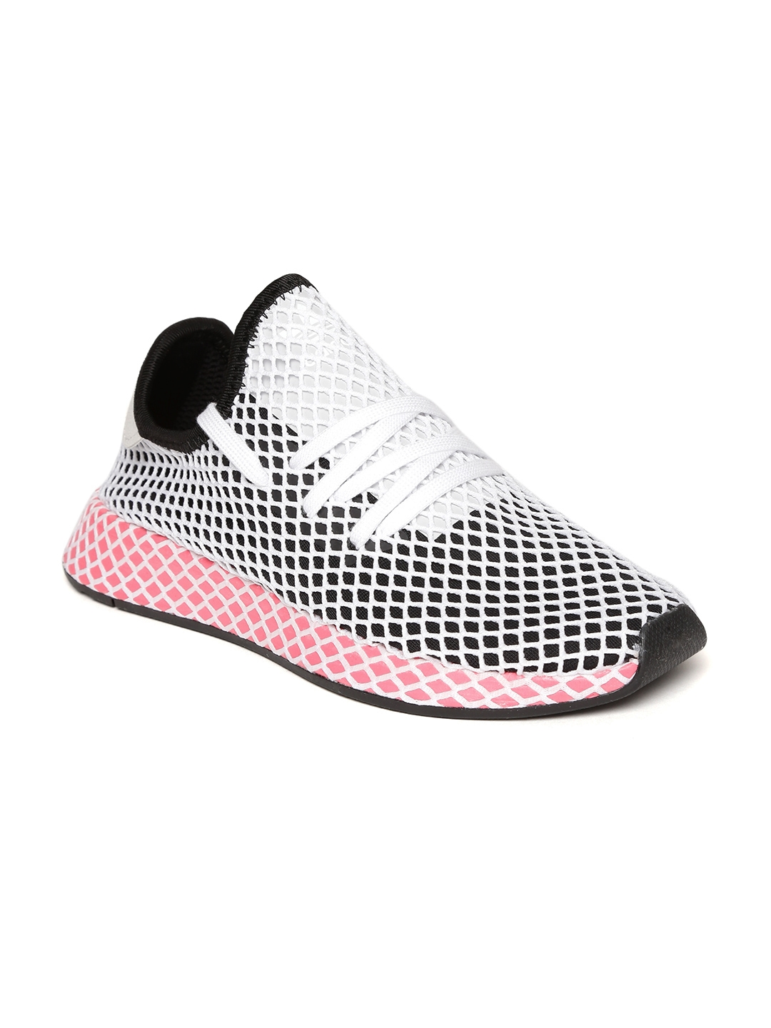 ADIDAS Originals Women Black   White Deerupt Runner Patterned Sneakers 7a5575ce33