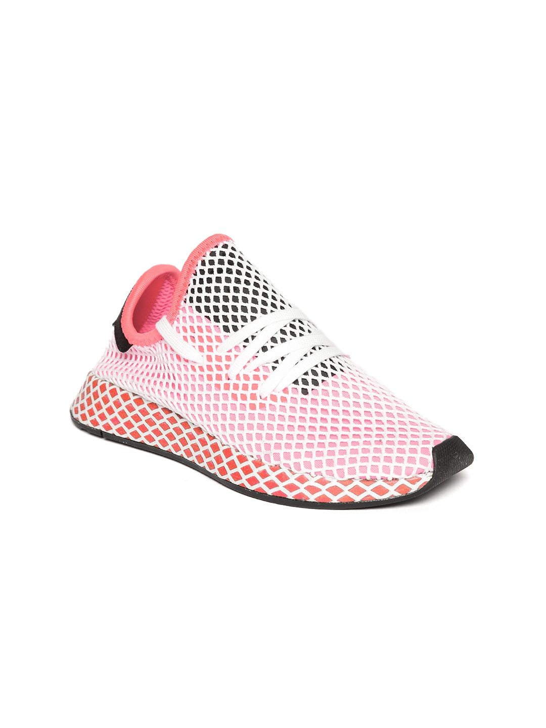 67554ae3e64 ADIDAS Originals Women Pink   White Deerupt Runner Patterned Sneakers