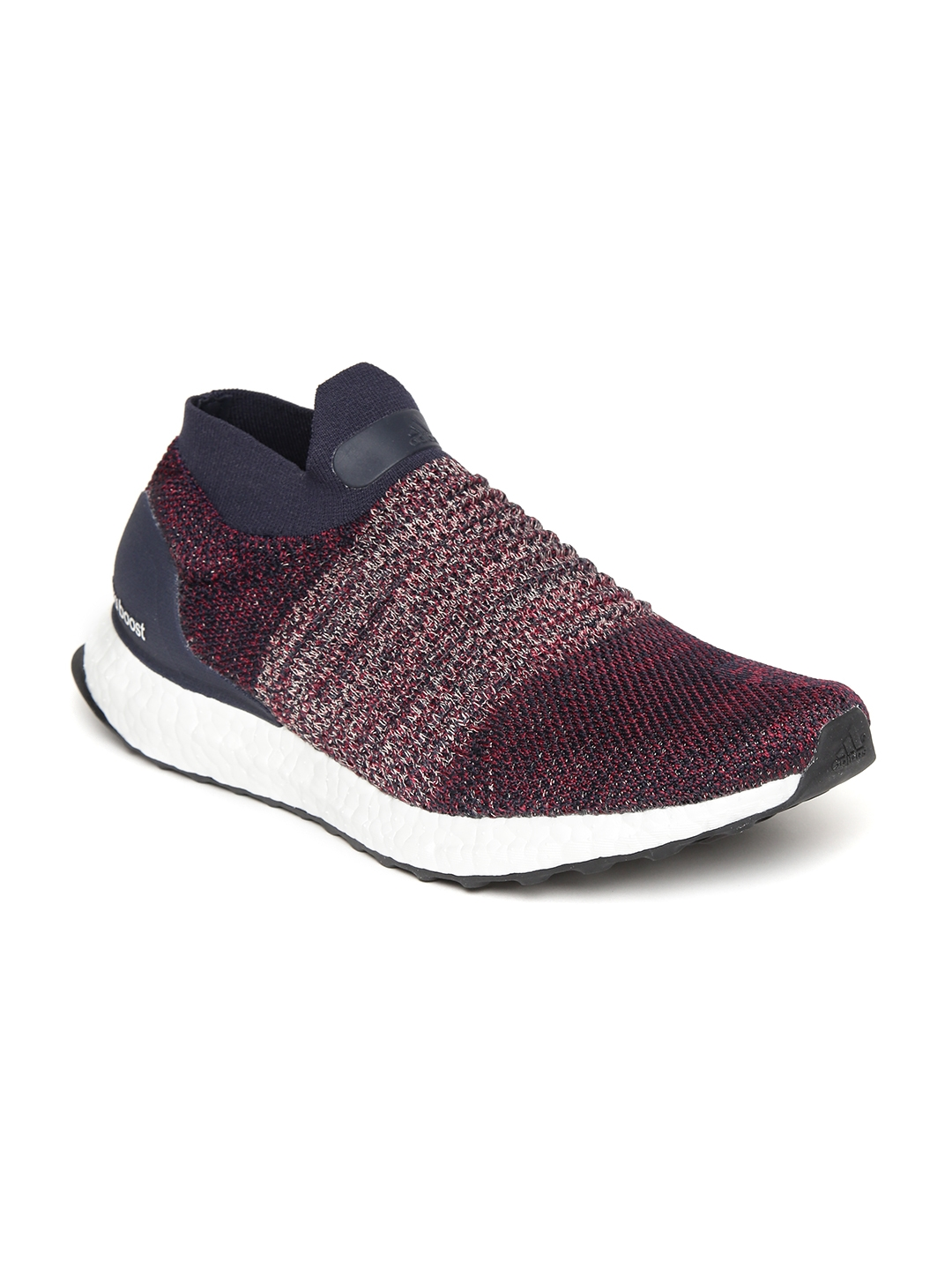 1507bdc83a04 Buy ADIDAS Women Burgundy   Navy Ultraboost Laceless Running Shoes ...