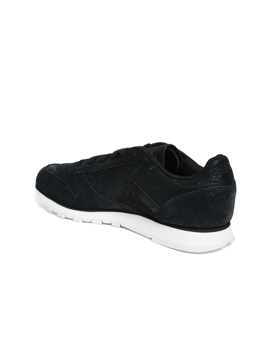d6ede41f9a8 Buy Reebok Classic Women Black CL Shimmer Leather Sneakers - Casual ...