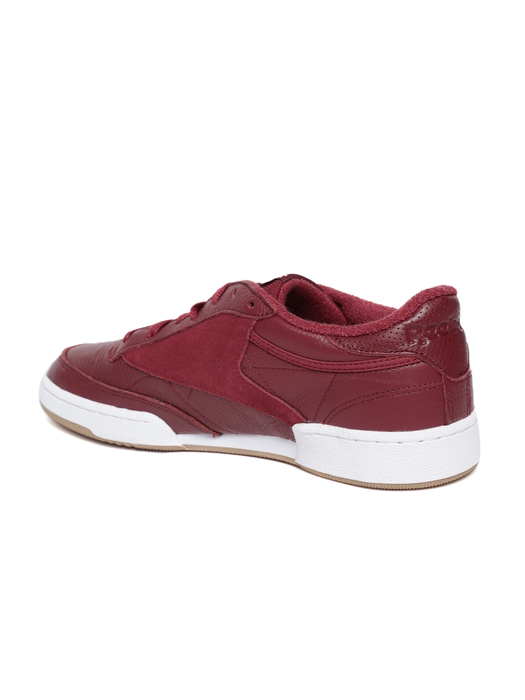 c6304fa1ce2d Buy Reebok Classic Men Maroon CLUB C 85 ESTL Sneakers - Casual Shoes ...