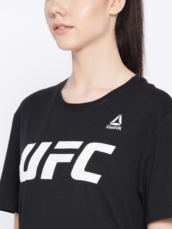a35cb07ec674 Buy Reebok Black UFC FG Logo Printed T Shirt - Tshirts for Women ...