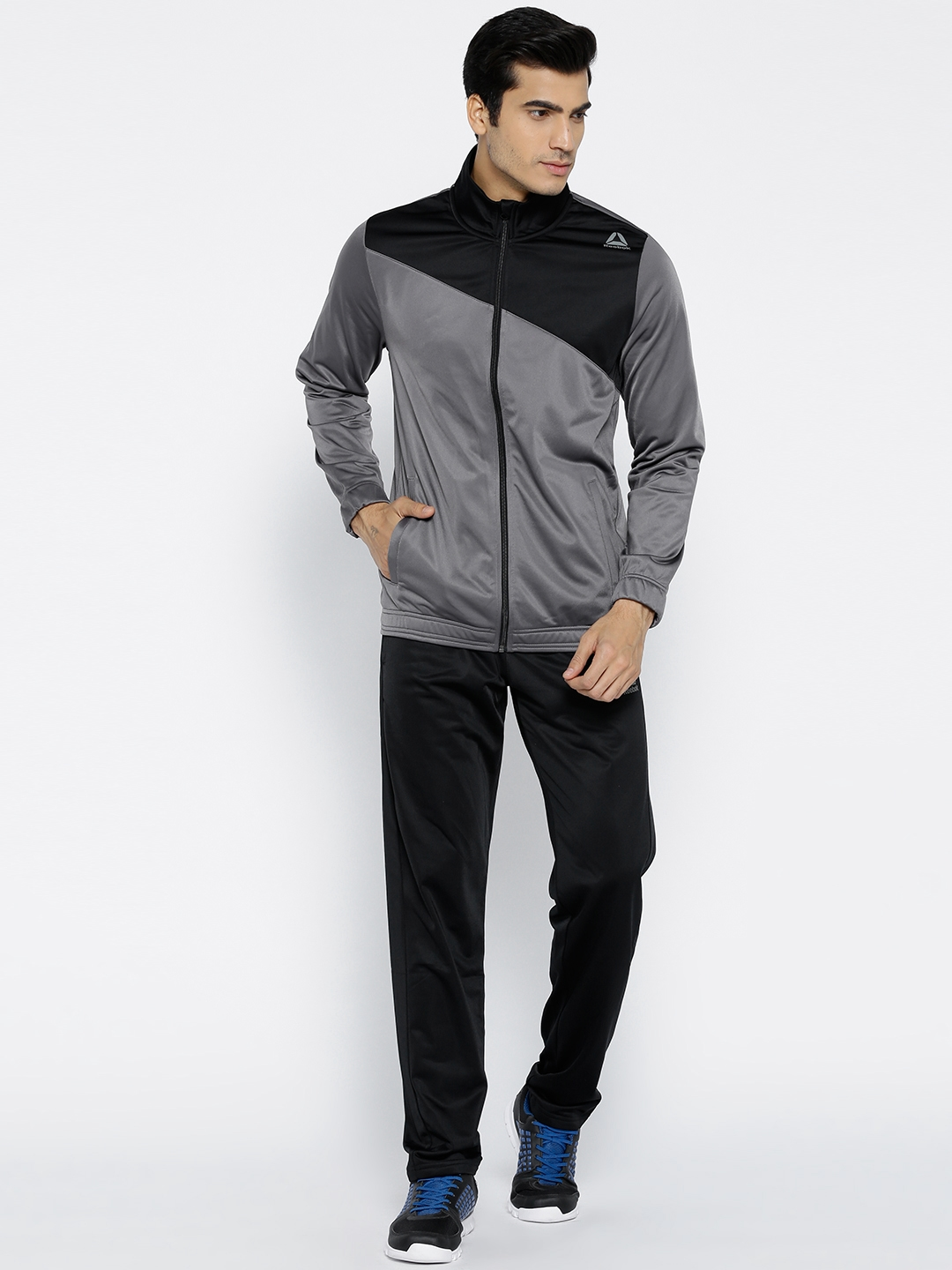a99055884f61 Buy Reebok Grey   Black TRICOT Training Tracksuit - Tracksuits for ...