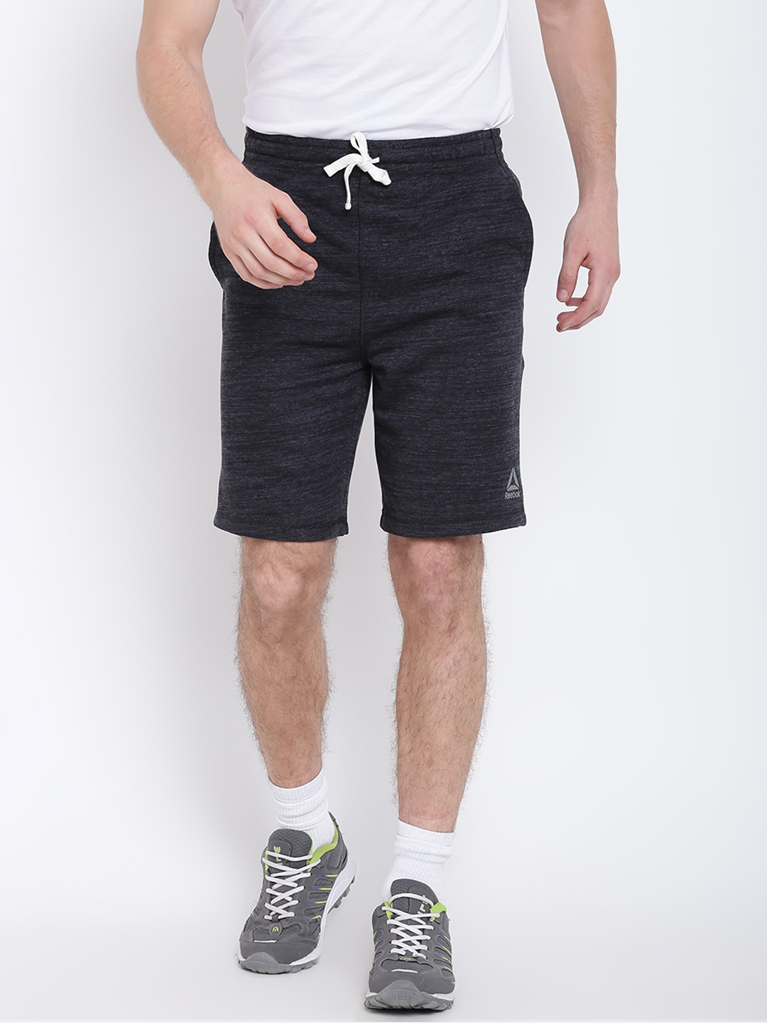 aa65141e1afbb Buy Reebok Men Charcoal Grey EL Marble Group Solid Training Shorts ...
