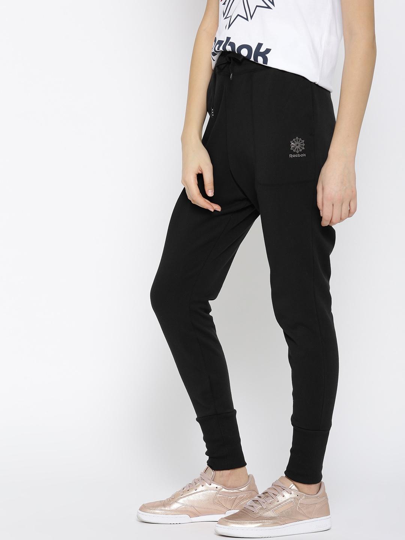 2f577063fc2 Buy Reebok Classic Women Black F FT Joggers - Track Pants for Women ...