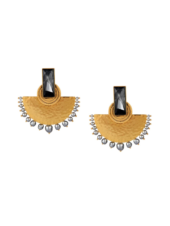 54cccbcaa CONFLUENCE Crystals from SWAROVSKI JJ Valaya Ranas Warrior Princess Half  Moon Earring