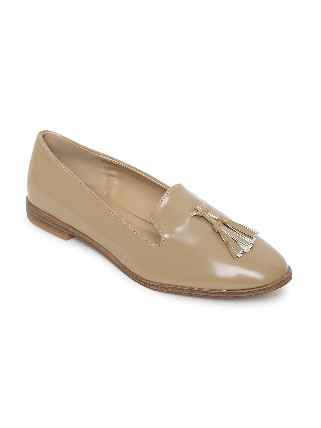 Buy Van Heusen Women Beige Solid Tassel Loafers - Casual Shoes for ... 735cb9076