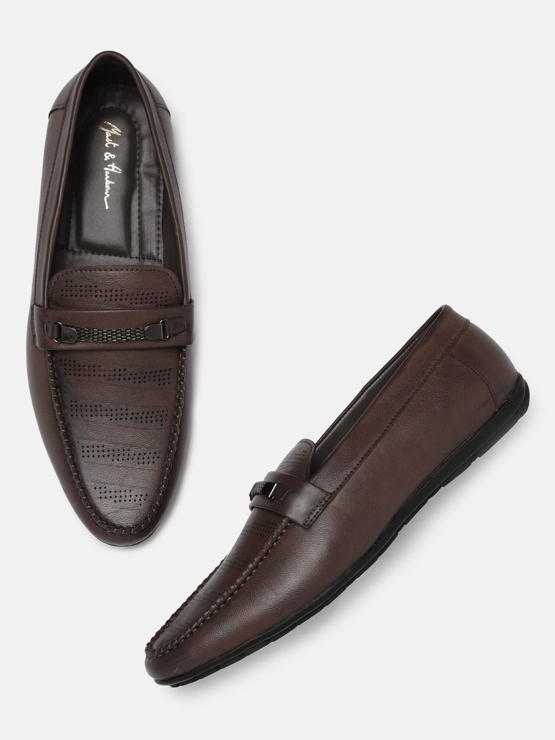 edbed38d659 Buy Mast   Harbour Men Brown Loafers - Casual Shoes for Men 2499686 ...