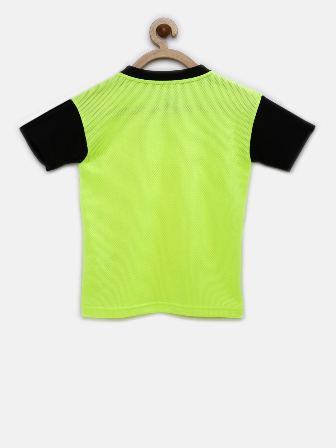 f8f244514b0b Buy Puma Boys Fluorescent Green Solid Round Neck T Shirt - Tshirts ...