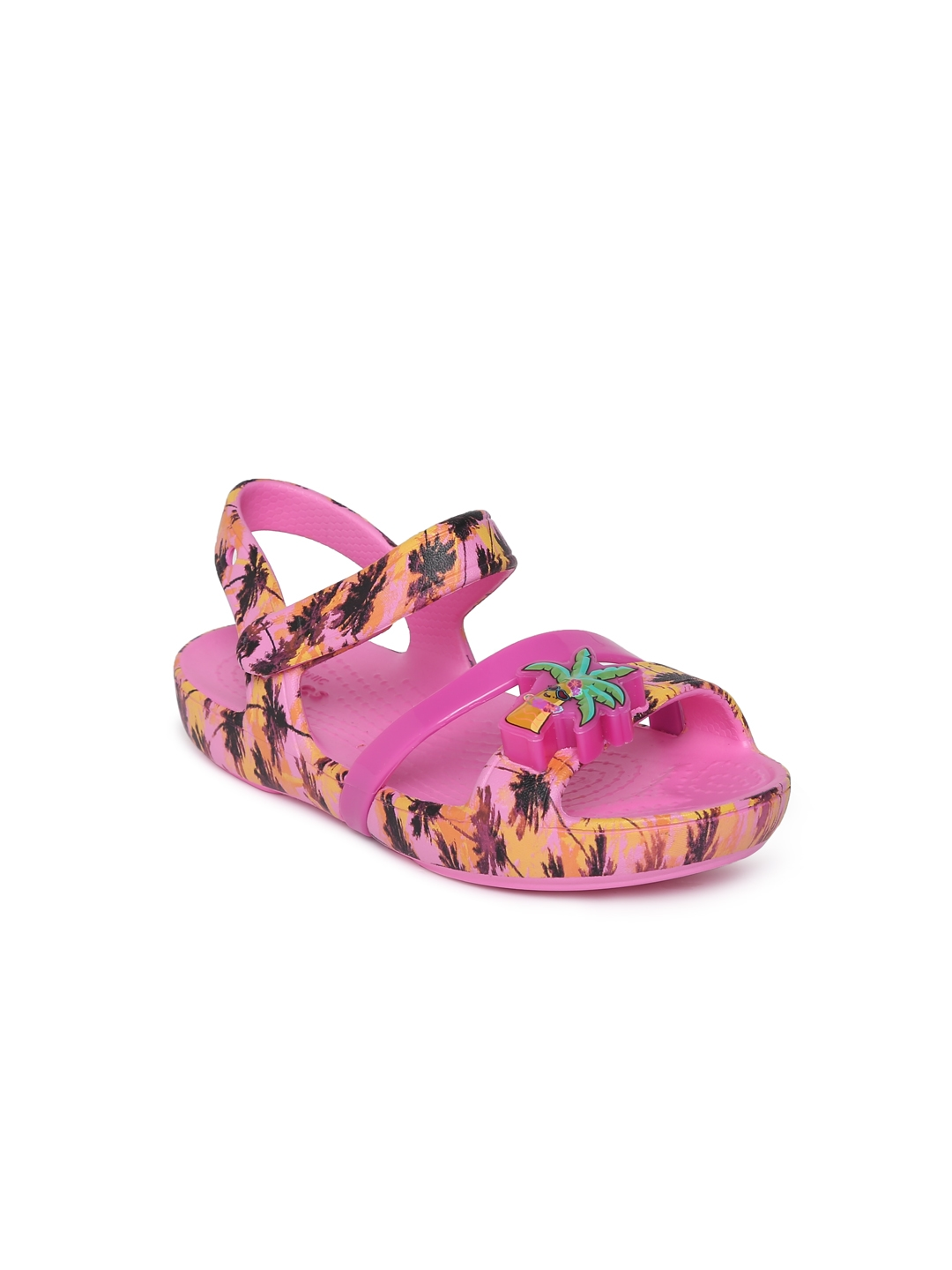 40864d70a19753 Buy Crocs Girls Pink Printed Comfort Sandals - Sandals for Girls ...