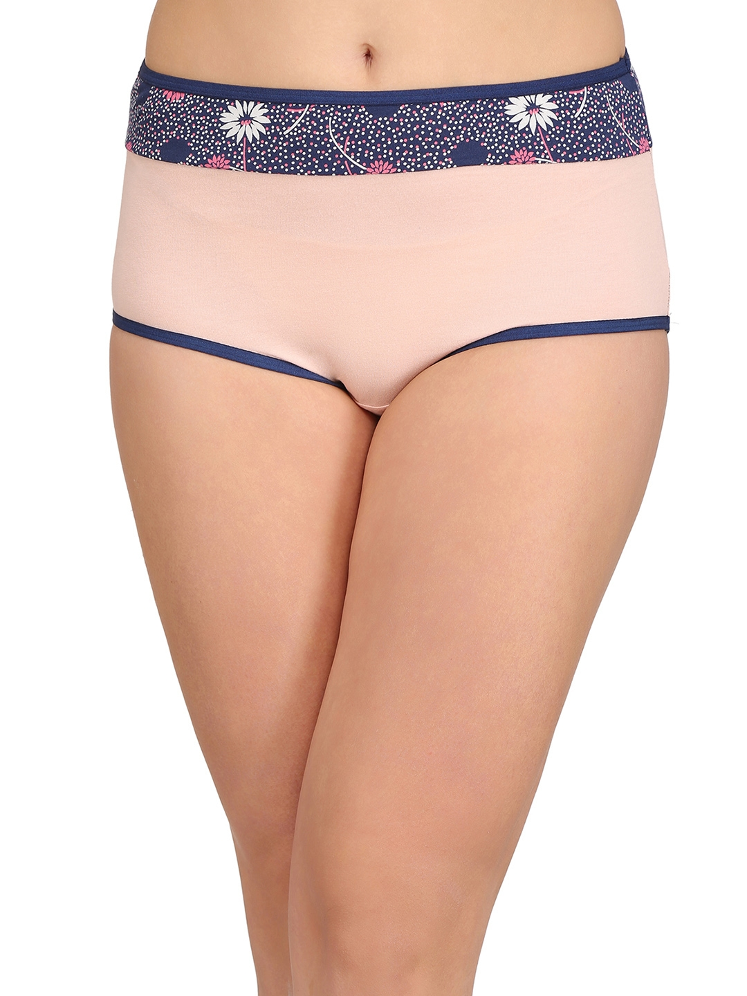 5499d5a942d0 Clovia Cotton High Waist Hipster Panty With Printed Panel PN2392P22