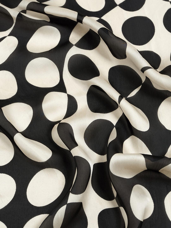 Buy Mango Black White Polka Dot Print Scarf Scarves For Women