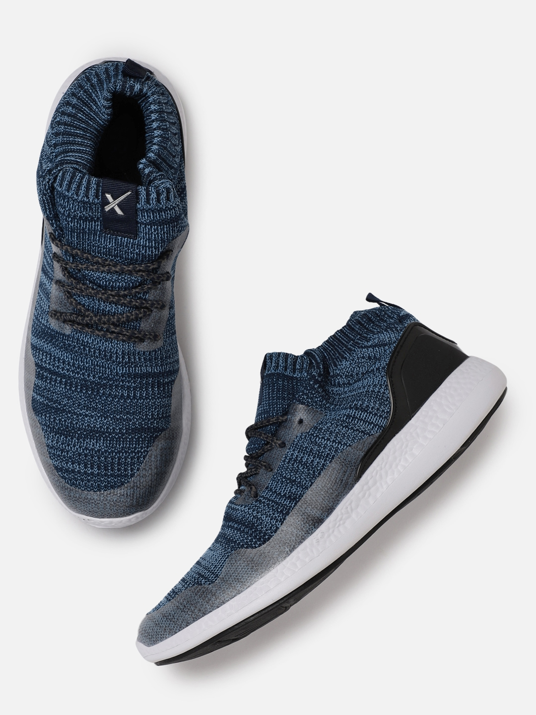 a83848594 Buy HRX By Hrithik Roshan Men Soft Walk Series Blue Running Shoes ...