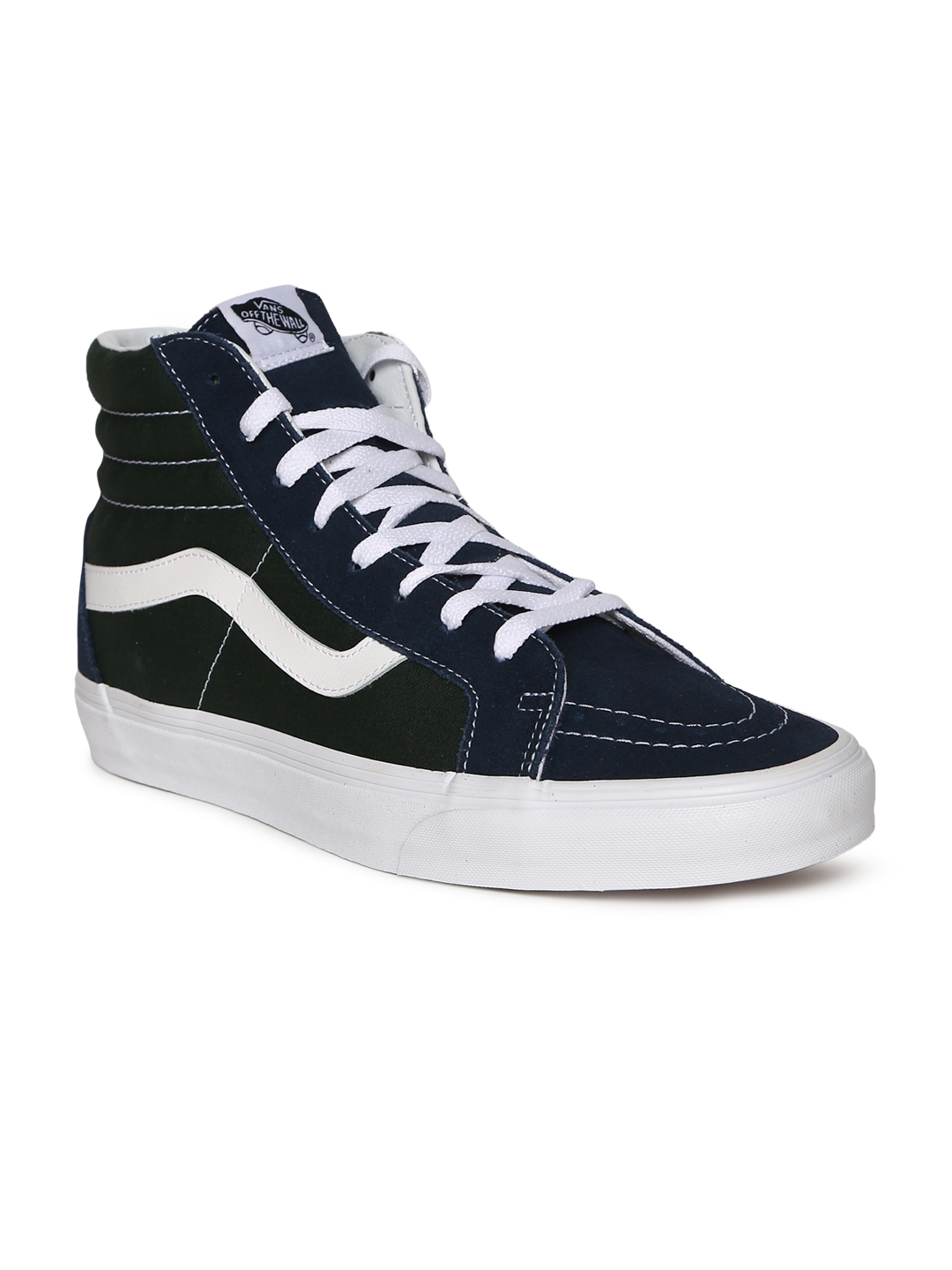 ce34179486 Vans Unisex Navy Blue Solid Synthetic SK8-Hi Reissue High-Top Sneakers