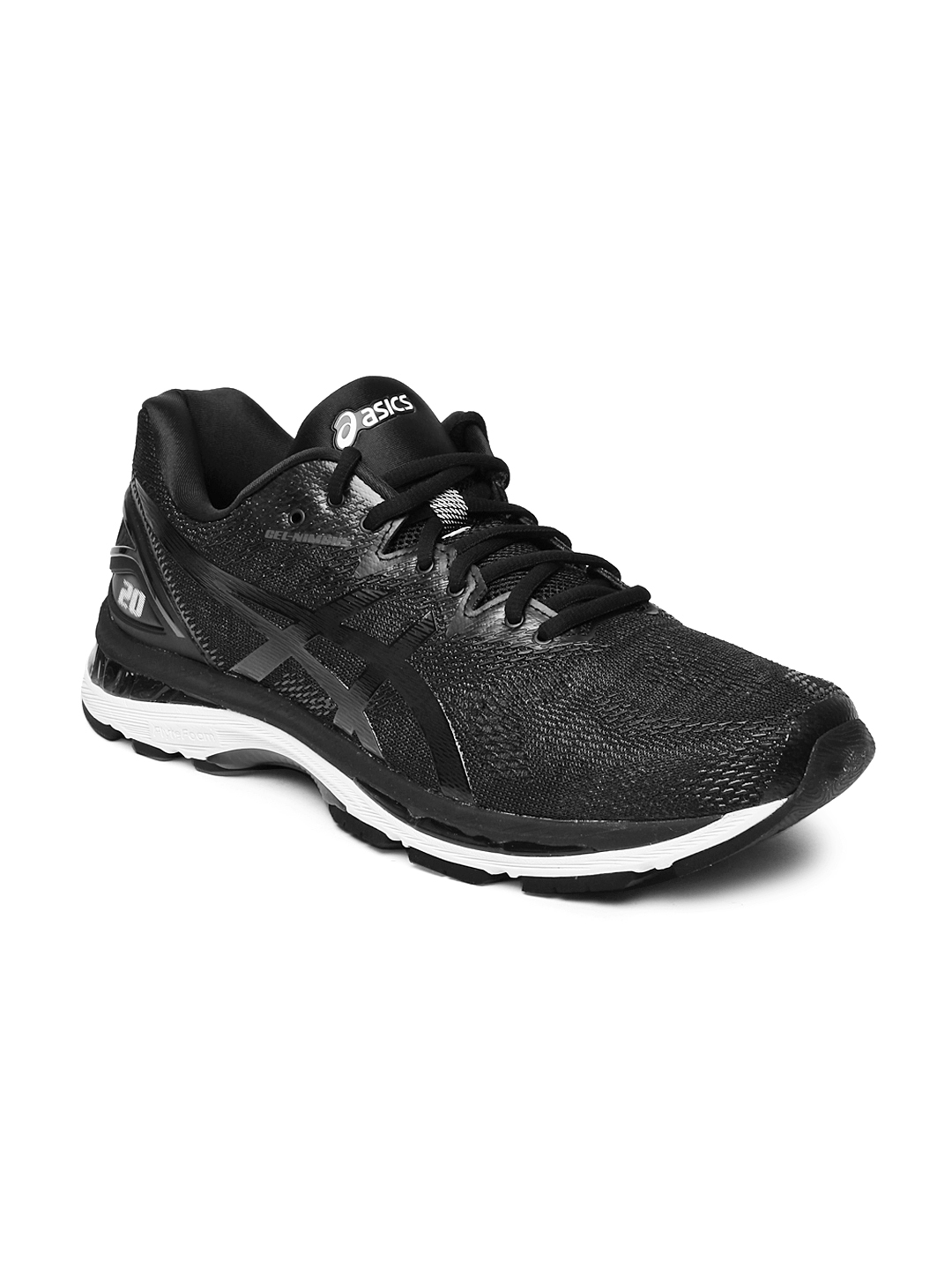 Buy ASICS Men Black GEL NIMBUS 20 Running Shoes - Sports Shoes for ... 8c7c584cfc